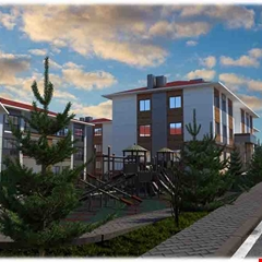 İzmir Torbalı'ya yatay mimarili konutlar