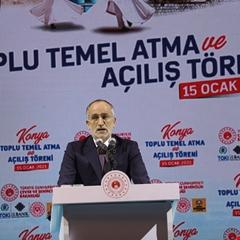 Konya'da temel atma töreni yapıldı