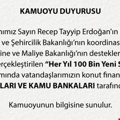 TOKİ projelerine katılım bankaları da dâhil edildi