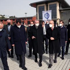 Cumhurbaşkanı Erdoğan, Marmara Üniversitesi Recep Tayyip Erdoğan Külliyesi inşaatını inceledi