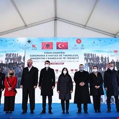 Arnavutluk'ta Toki Tarafından İnşa Edilecek 522 Konutun Temeli Atıldı
