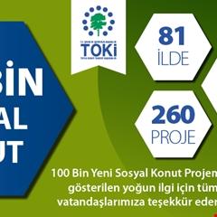 100 Bin Sosyal Konut Projesi'ne 1 milyon 211 bin 518 kişi başvurdu