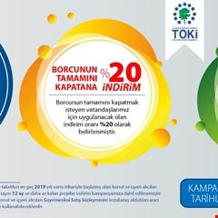 TOKİ'den esnek ödemeli indirim kampanyası